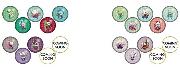▲世嘉合作咖啡馆Fate / Grand Order Arcade变形徽章C(全部10种)(左)/世嘉合作咖啡馆Fate / Grand Order Arcade变形徽章D(全10种)