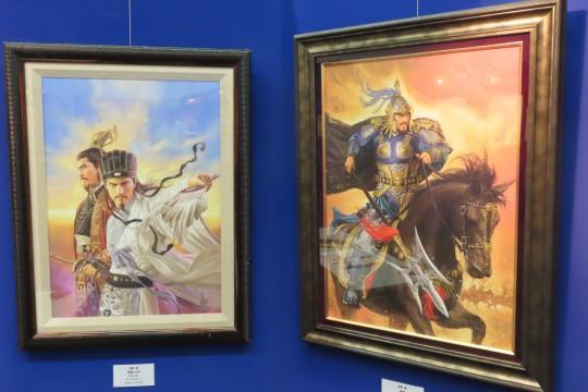 秋葉原会場は戦国武将がメインテーマだが、三国志の原画も一部展示