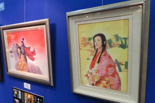 長野氏といえば骨太の武将画のイメージだが、実は女性を描くのがお好きとのこと