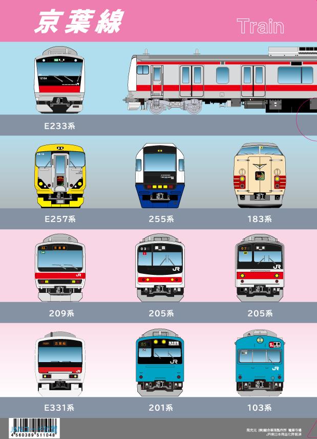 全線開業30周年を迎えた「京葉線」の歴代車両がデザインされたクリアファイルが5/21より書泉限定で発売!