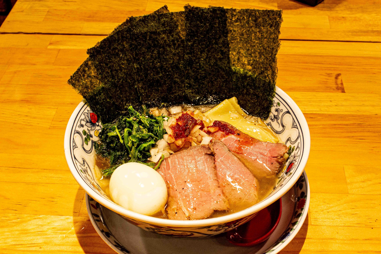 "Ramen at popular steak bar! ? Meat bar ""Beef Kitchen Stand"" now offers a unique collaboration menu with ""Ramen Nagi""!"